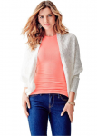GUESS Long-Sleeve Draped Cocoon Cardigan