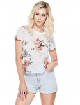 GUESS Wylde Floral-Print Mesh Top