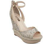GUESS Women's Odin Ankle Strap Platform Wedge Sandals