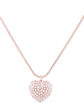 GUESS Crystal Heart Long Pendant Necklace