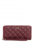 GUESS Victoria Quilted Zip-Around Wallet
