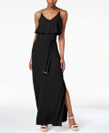 MICHAEL Michael Kors Chain-Embellished Popover Maxi Dress