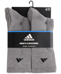 Adidas Men's 6 Pack ClimaLite Crew Socks
