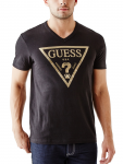 GUESS Bordeaux Logo V-Neck Tee