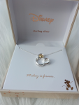 Disney Mickey Mouse Pendant Necklace in Two-Tone Sterling Silver