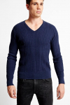 GUESS Ken Ribbed V-Neck Sweater